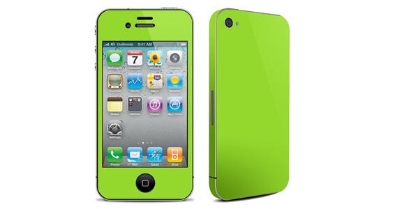 sticker Vert pomme pour Iphone4