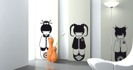 sticker Poupées Japonaises