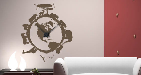sticker Horloge Jungle