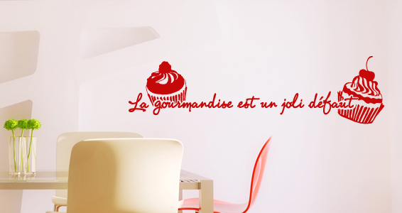 Stickers muraux sticker d coration murale for Decoration murale gourmandise