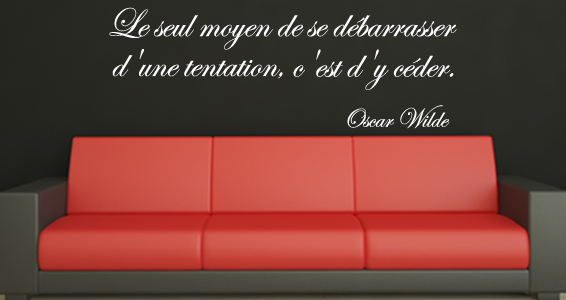 Citation La tentation & Oscar Wilde
