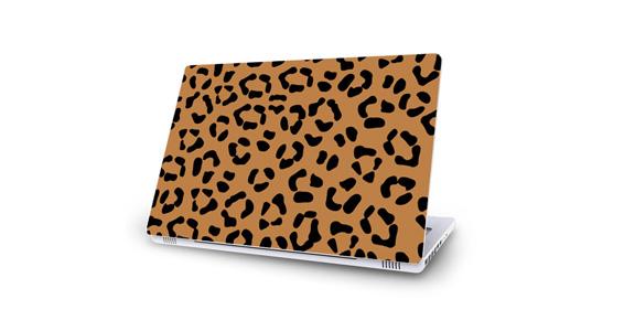 sticker Léopard marron pour Mac Book