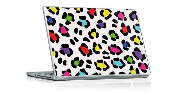 stickers muraux l opard multicolor pour pc portable. Black Bedroom Furniture Sets. Home Design Ideas