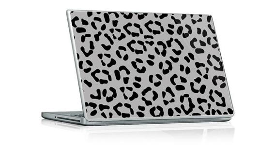 stickers muraux l opard gris pour pc portable sticker. Black Bedroom Furniture Sets. Home Design Ideas