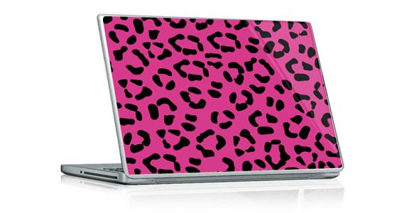 stickers muraux l opard rose pour pc portable sticker d coration murale d. Black Bedroom Furniture Sets. Home Design Ideas