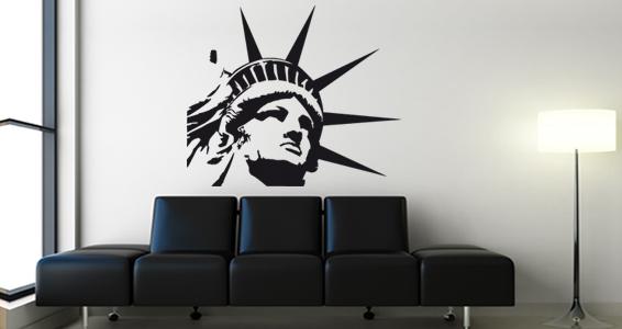 sticker Statue de la liberté Visage