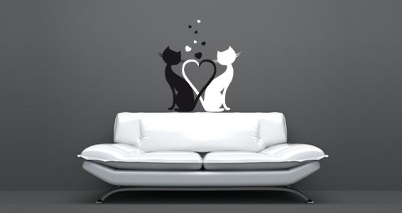 sticker Des amours de chats