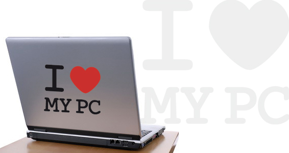 sticker I Love My PC pour PC portable