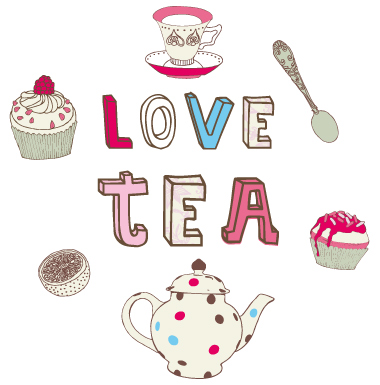 sticker Love tea