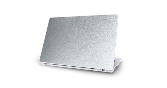 sticker Aluminium Brossé pour Mac Book
