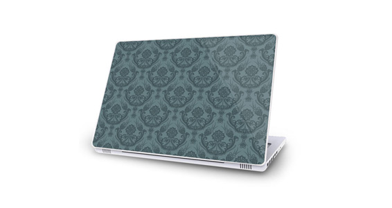 sticker Baroque gris pour Mac Book