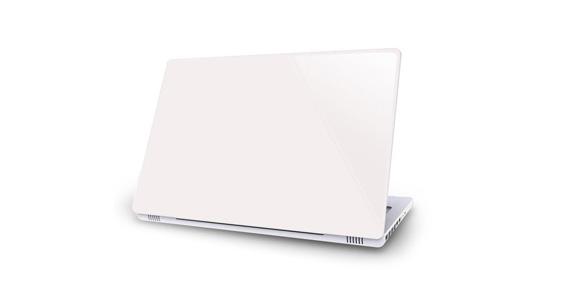 sticker Blanc pour Mac Book