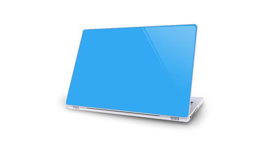 sticker Bleu ciel pour Mac Book