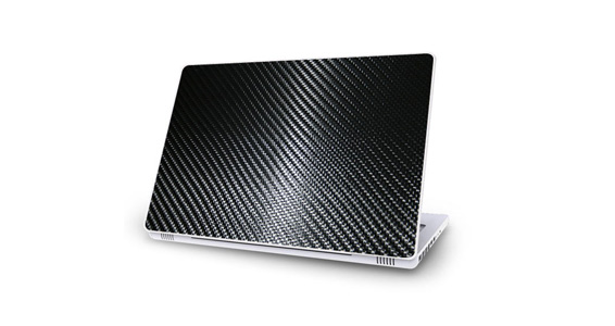 sticker Carbone Noir pour Mac Book