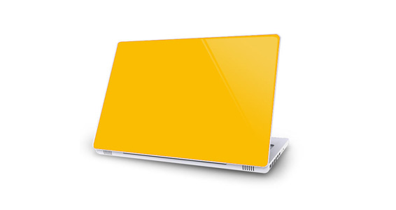 sticker Jaune Tournesol pour Mac Book