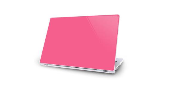sticker Rose bonbon pour Mac Book