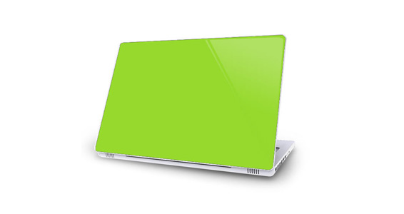 sticker Vert pomme pour Mac Book