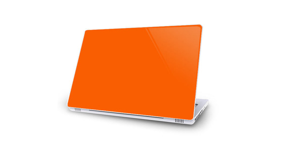 sticker Orange pop pour Mac Book