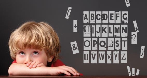 sticker Alphabet volant