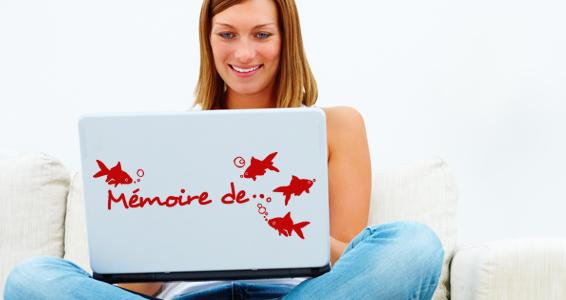 sticker Mémoire de Poisson Rouge pour PC portable