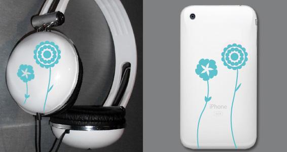 sticker Fleurs pour Iphone