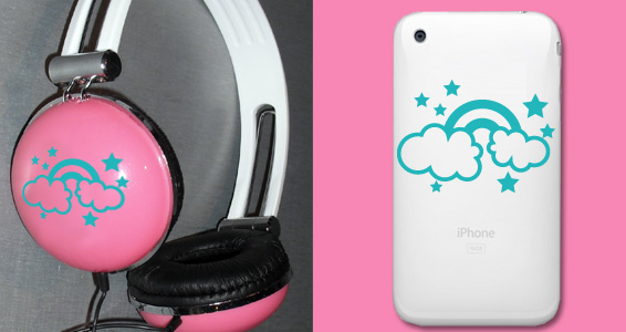 sticker Arc-en-ciel pour Iphone