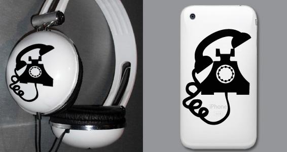 sticker Vieux T_l_phone pour Iphoneé