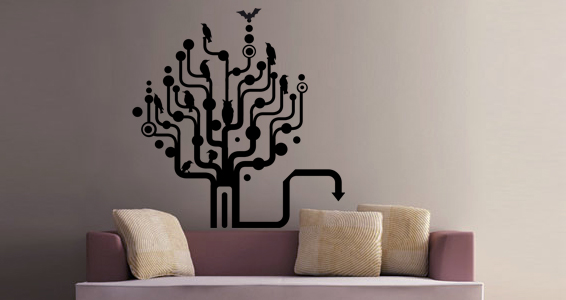 sticker Arbre graphique
