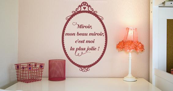 Stickers muraux mon beau miroir sticker d coration for Mon beau miroir