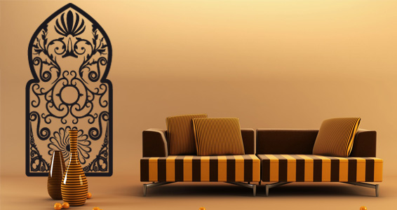 stickers muraux grande porte orientale sticker d coration murale. Black Bedroom Furniture Sets. Home Design Ideas