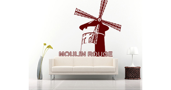 sticker moulin rouge