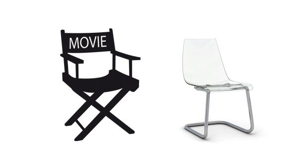 sticker Chaise de cinéma