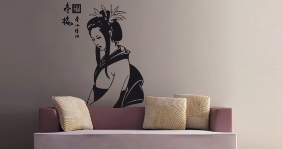 sticker Geisha