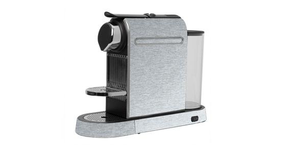 sticker Alu brossé pour  Nespresso