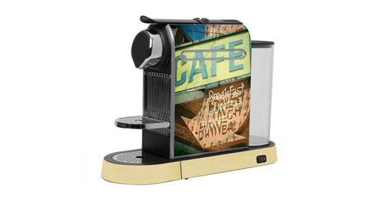 sticker Café rétro pour  Nespresso