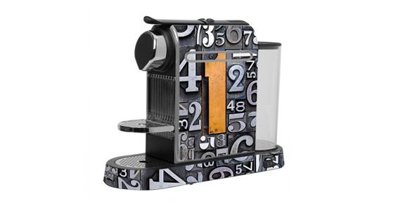 sticker Chiffres métal pour  Nespresso