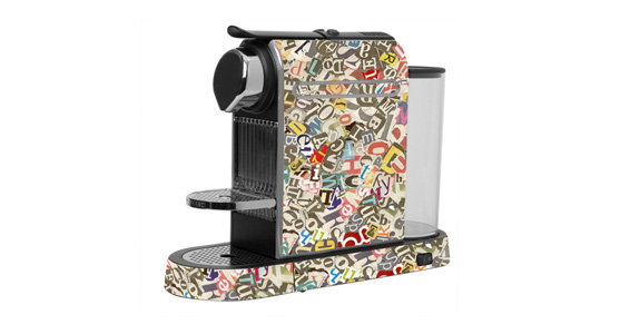 sticker Collage lettres pour  Nespresso