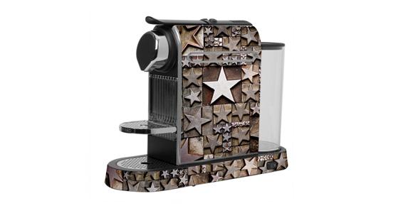 sticker Etoile métal pour  Nespresso