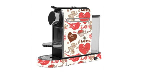 sticker Love pour  Nespresso