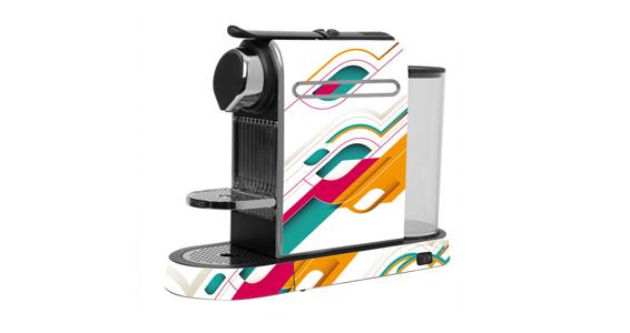 sticker Minimal abstrait pour  Nespresso