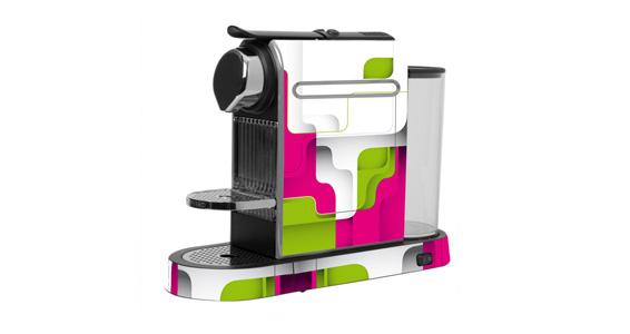sticker Minimal retro pour  Nespresso