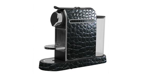 sticker Croco noir pour  Nespresso