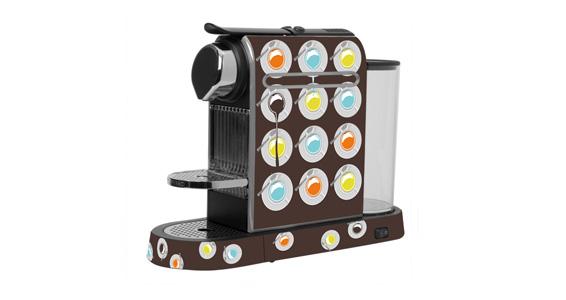 sticker Pop Coffe marron pour Nespressoé