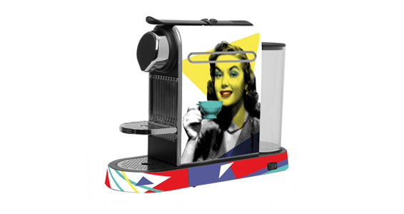 sticker Portrait Pop pour  Nespresso