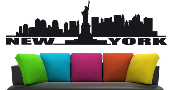 Stickers muraux new york sticker d coration murale - Deco murale new york ...