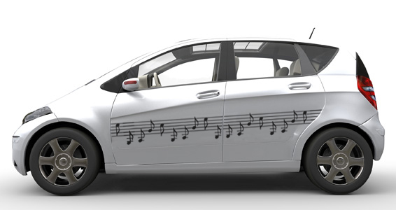 sticker Notes de musique auto