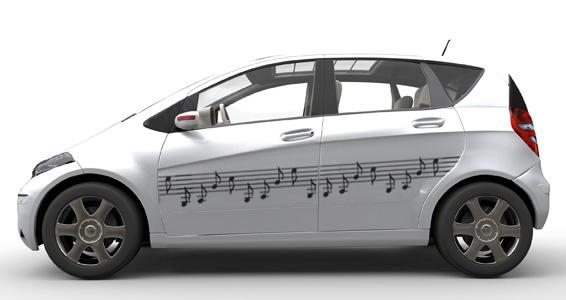 sticker Notes de musique auto