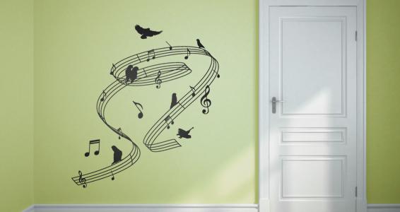 sticker spirale musicale