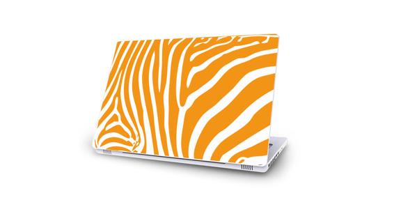 sticker Zèbre jaune pour Mac Book