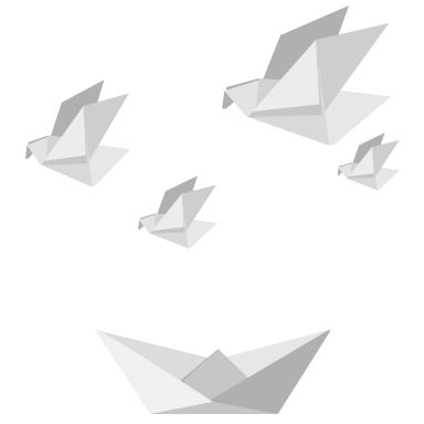 sticker Kit oiseaux origami